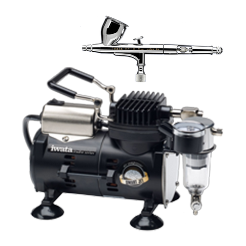 IWATA - HIGH PERFORMANCE HP-C + AIRBRUSH AND SMART JET COMPRESSOR PACK - The Footwear Care