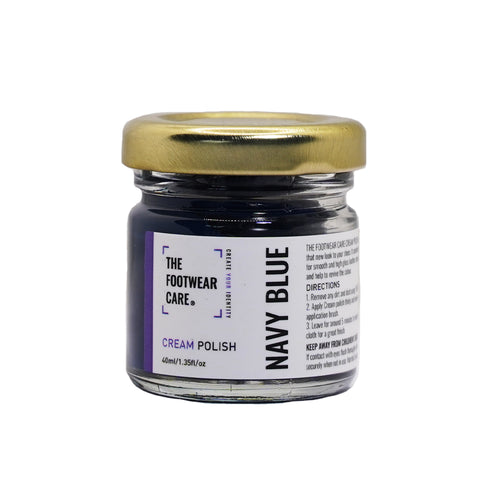 The Footwear Care Navy Blue Cream Polish - The Footwear Care