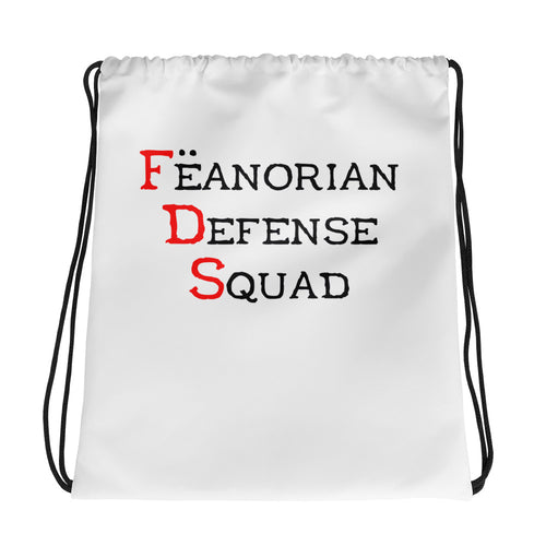 Fëanorian Defense Squad Drawstring Bag
