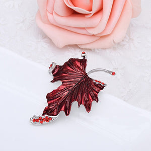 Red Maple Leaf Brooch
