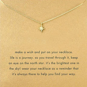 Minimalist Eight-Pointed Star Necklace