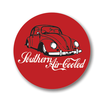 "Southern Air-Cooled Sticker 1.2"" Round"
