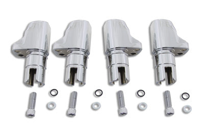 Chrome Aluminum Alloy Tappet Block Set - V-Twin Mfg.