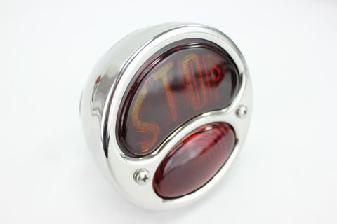 "Ford ""Stop"" Duolamp Model A Stainless Steel Tail Light"