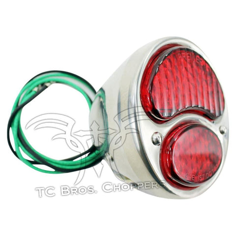 LED Ford Duolamp Model A Stainless Steel Tail Light