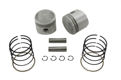 74  Overhead Valve Piston Set .010 Oversize - V-Twin Mfg.