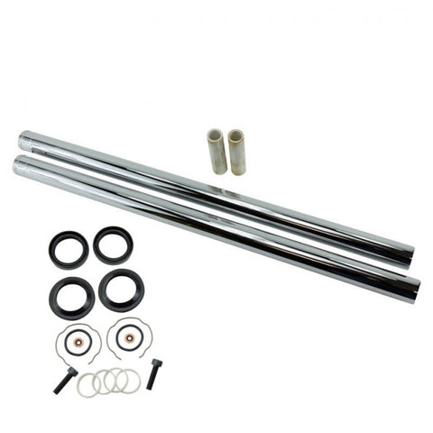 "TC Bros. Hard Chrome Extended Fork Tube Kit +4"" 39mm for Sportster/ Dyna Narrow Glide"