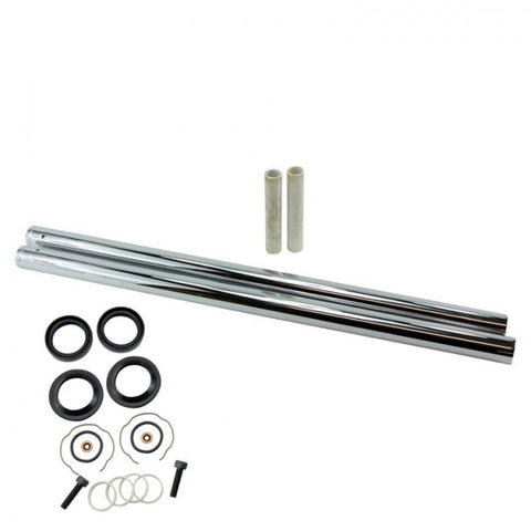 "TC Bros. Hard Chrome Extended Fork Tube Kit +6"" 39mm for Sportster/ Dyna Narrow Glide"