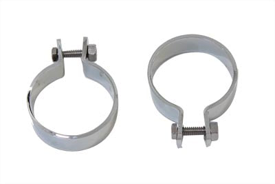 Chrome 2  Muffler Body and End Clamp Set - V-Twin Mfg.