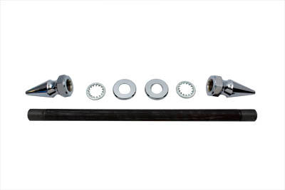 Chrome Rear Axle Kit Pike Type - V-Twin Mfg.