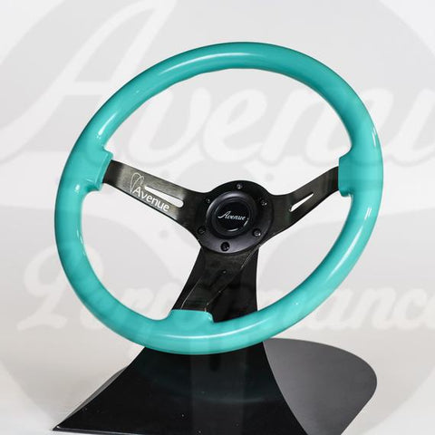 AVENUE STEERING WHEEL MINTY GREEN/ BLACK SPOKES