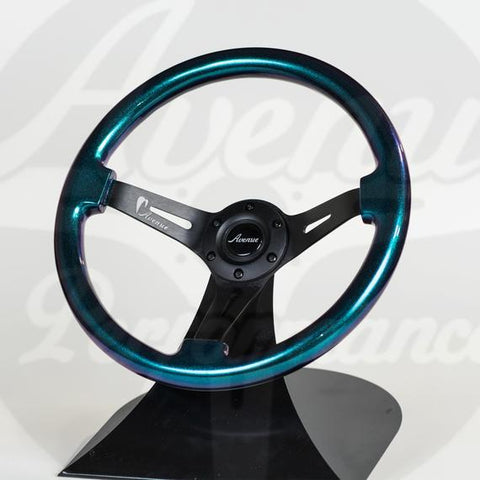 AVENUE STEERING WHEEL OPAL/ BLACK SPOKES