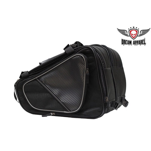 Textile Motorcycle Bag With Reflective Piping