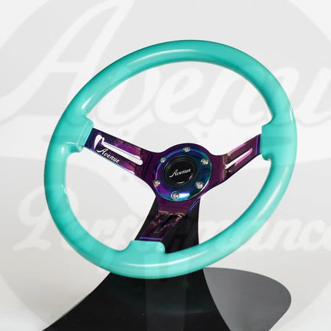 AVENUE STEERING WHEEL MINTY GREEN W/ NEOCHROME SPOKES