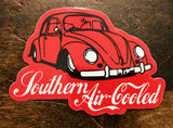 "Southern Air-Cooled Sticker 2.2"" x 1.6"""