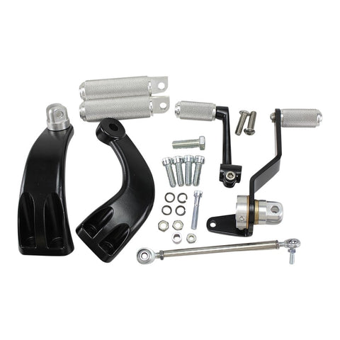 TC Bros. Sportster Mid Controls Kit fits 2004-2013