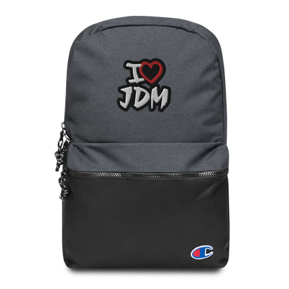 I Heart JDM Embroidered Champion Backpack