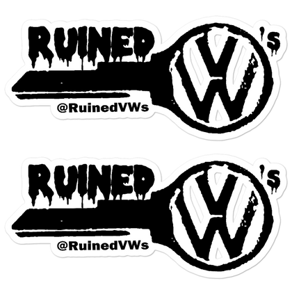 Ruined VW's Key Stickers
