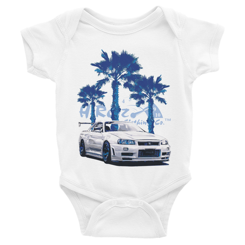 Godzilla on the Beach Infant Bodysuit