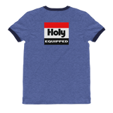 HiRevz Classic Holy Equipped on Back Ringer T-Shirt