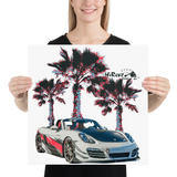 Boxster On The Beach Poster