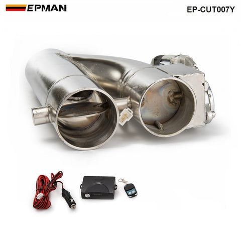 "EPMAN - 2.5"" / 3"" Electric Exhaust Cutout Dual-Valve Controller Remote Kit"