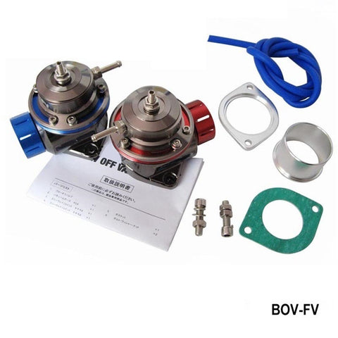 BLOW OFF VALVE BOV UNIVERSAL TYPE FV RED /BLUE