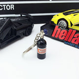 NOS Bottle Metal Key Chain
