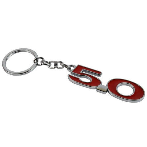 Metal 5.0 Keychain Emblem Auto Badge Key Ring Chain