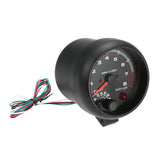 "3.75"" Black Tachometer Gauge w/ Shift light 0-8000 RPM"
