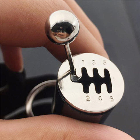 Gear Knob Gear Shift Gear Stick Gear Box Metal Keychain