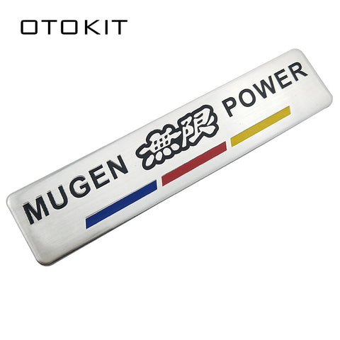Car Aluminum Red MUGEN POWER  Emblem