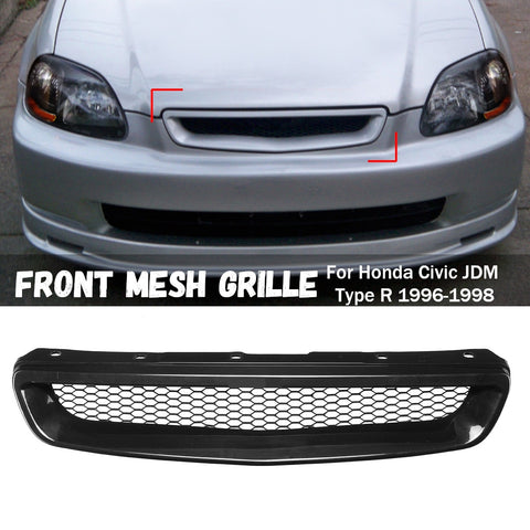 Front Mesh Grille for Honda /Civic /JDM Type R 1996 1997 1998