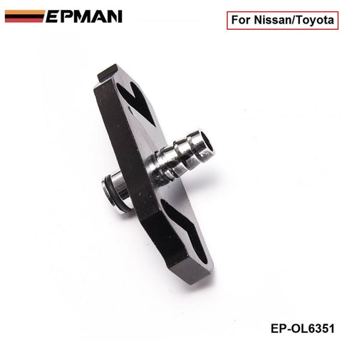 1PC Black Turbo Fuel Rail Delivery Regulator Adapter For Regulator fit for Nissan/Toyota EP-OL6351 (1PC)