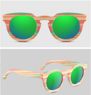 Polarized Multicolor Bamboo Sunglasses