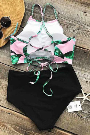 Tea Leaves High Waist Bikini Swimsuit
