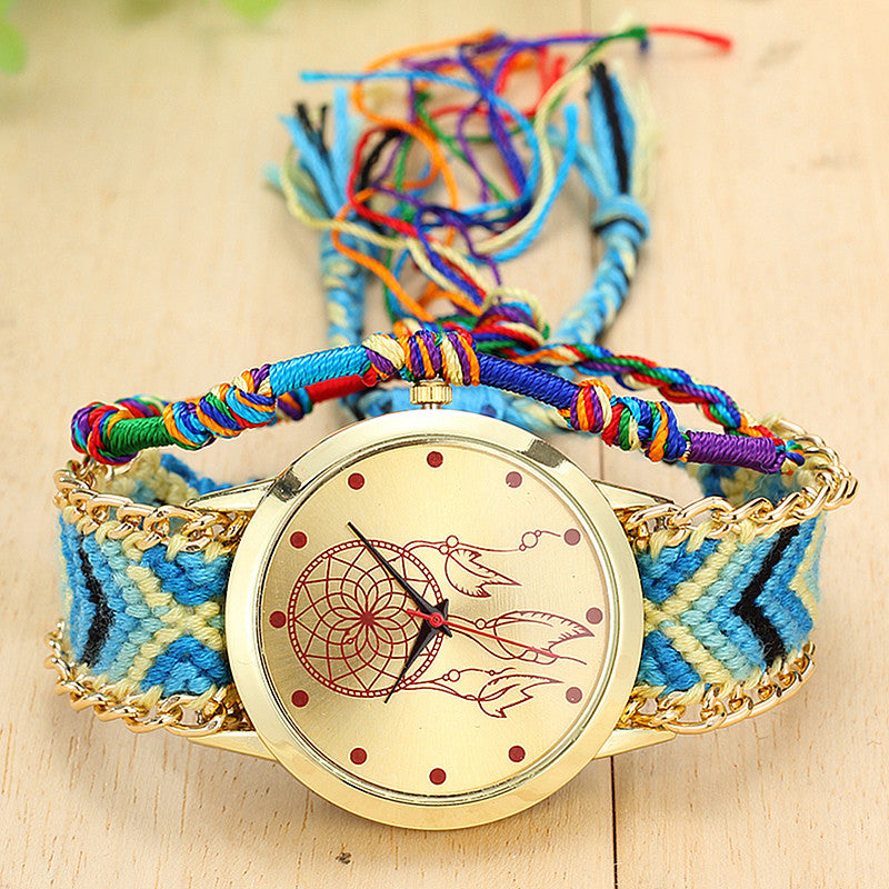 Knitted Band Dreamcatcher Watch