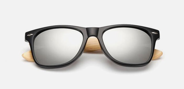 Retro Bamboo Mirror Sunglasses
