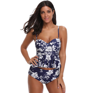 Classic High Waist Floral Two-Piece Swimsuit