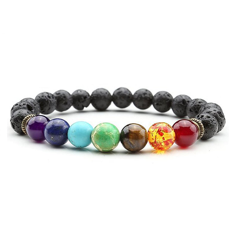 7 Chakras Beaded Yoga Bracelet