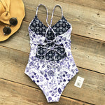 Reversible Print One-piece Cheeky Swimsuit