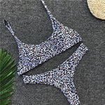 Leopard Print Push-Up Bikini Set