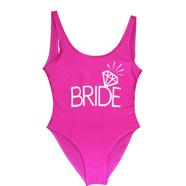 Bride and Bridesmaid One-Piece Swimsuit