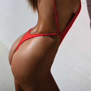 One Piece Thong High Cut Swimsuit