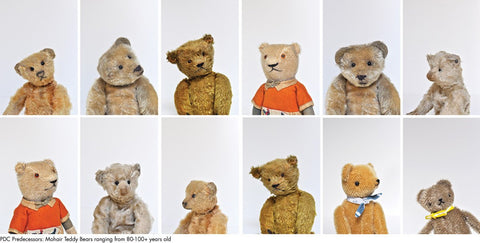 vintage bears -polka dot club - steiff