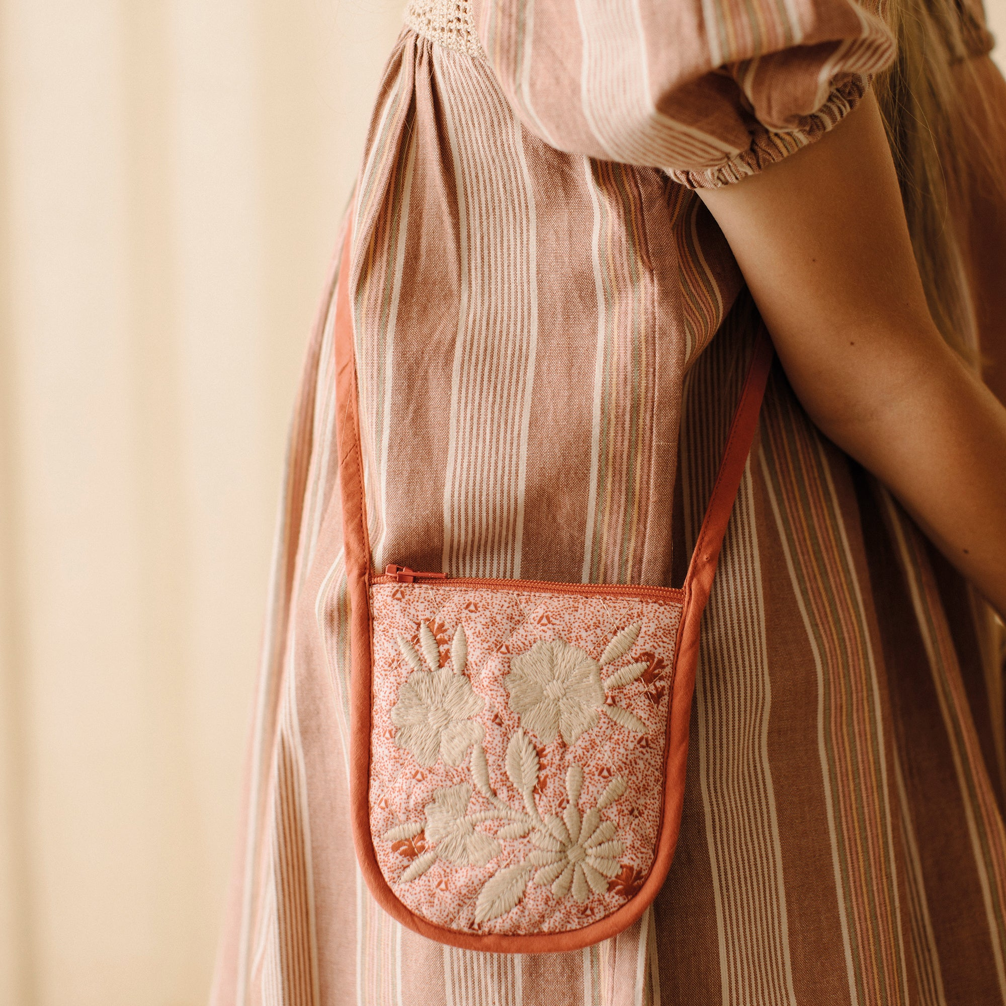 DINAH COIN BAG - RED CALICO FLORAL/ PICNIC CHECK