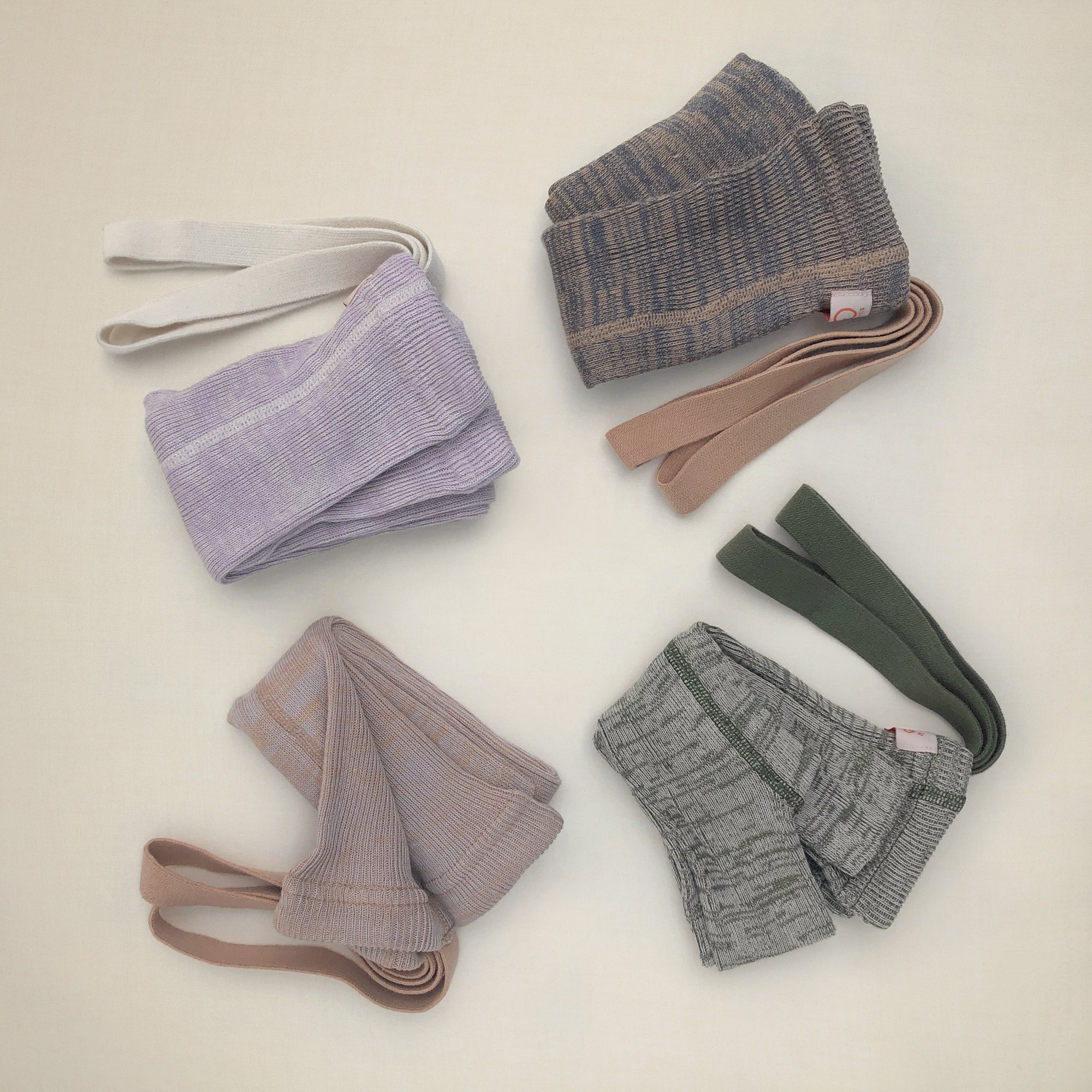 Silly Silas RETRO-BRACE MARL LEGGINGS - Creamy Lilac/  Creamy Olive/ Charcoal Fawn/ Rose Marl