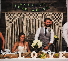 You Complete Me Large Handmade Yarn Macrame Wedding Backdrop