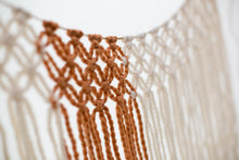 The House Phoenix Burnt Orange Handmade Yarn Macrame Window Curtain