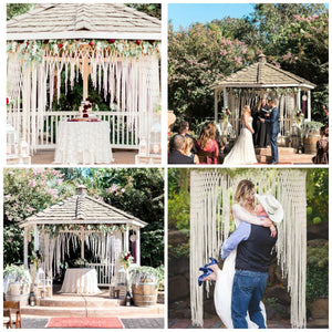 Lovey McLoveface Large Handmade Yarn Macrame Wedding Backdrop - The House Phoenix